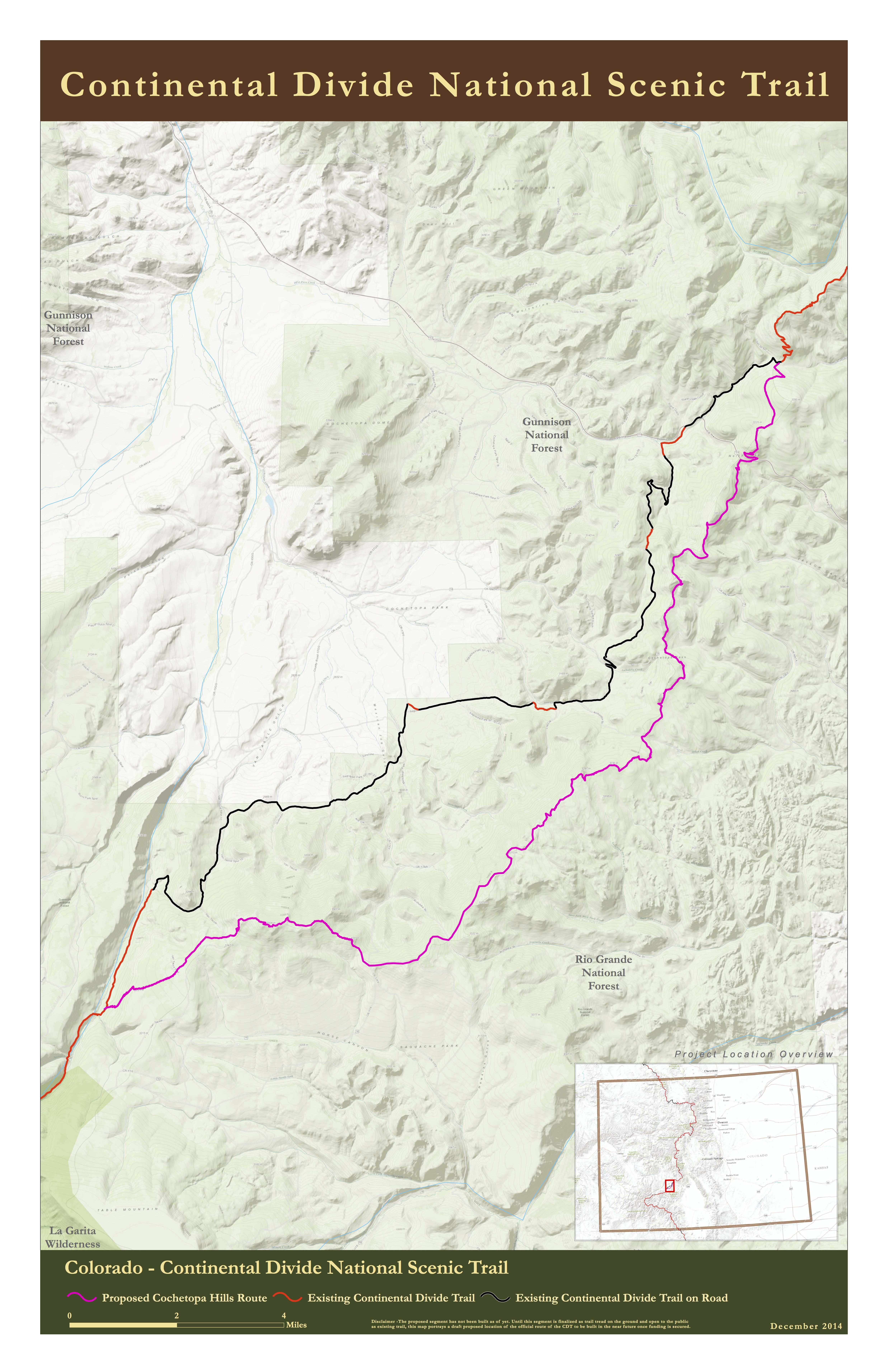 The Next Miles Indiegogo - Cdt trail map