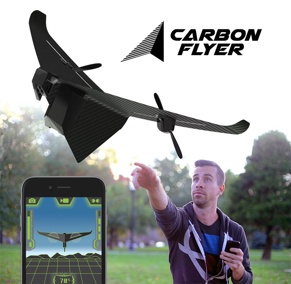 Carbon Flyer: миниатюрный самолетик из углеродного волокна, управляемый со смартфона