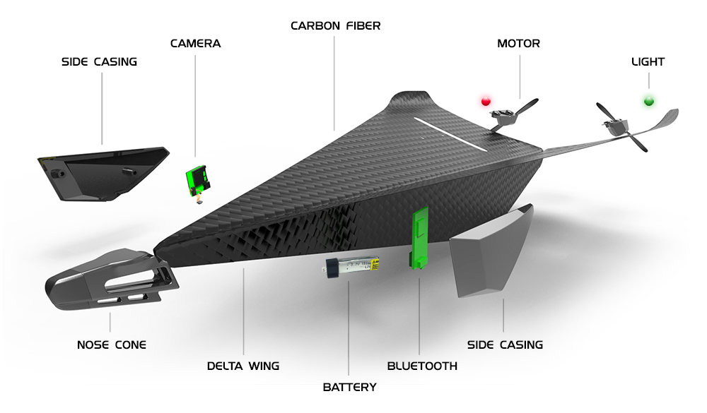 Carbon Flyer: The Ultimate crash proof video drone