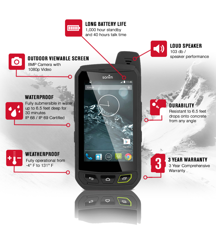 Sonim Xp7 The Most Rugged Lte Android Smartphone Indiegogo