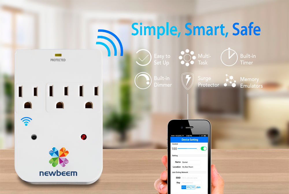 Smartphone Controlled Outlet smart outlet | prefundia