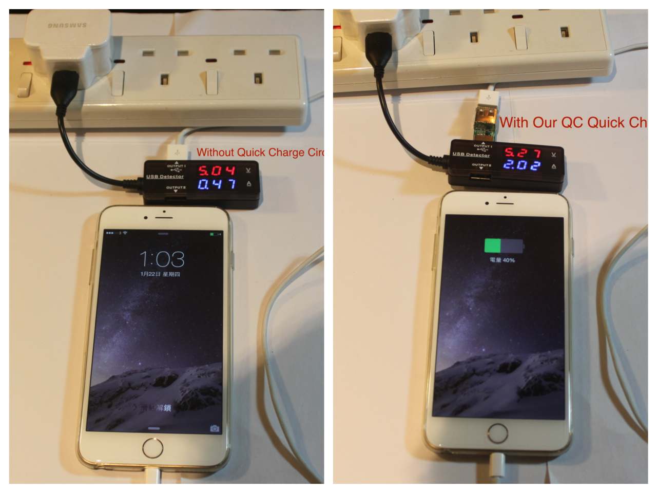 iphone quick charge. it is an ultra portable charger with fast charging circuit designed to fully charge your smartphone, support iphone 6/6+,samsung and qc 2.0. iphone quick