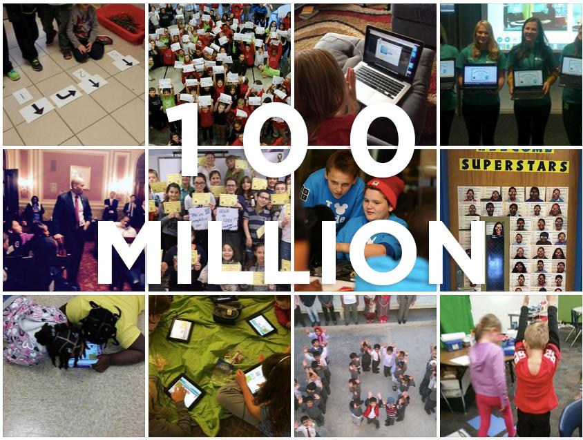 Boa! 100 milhões de pessoas atingidas com o projeto!