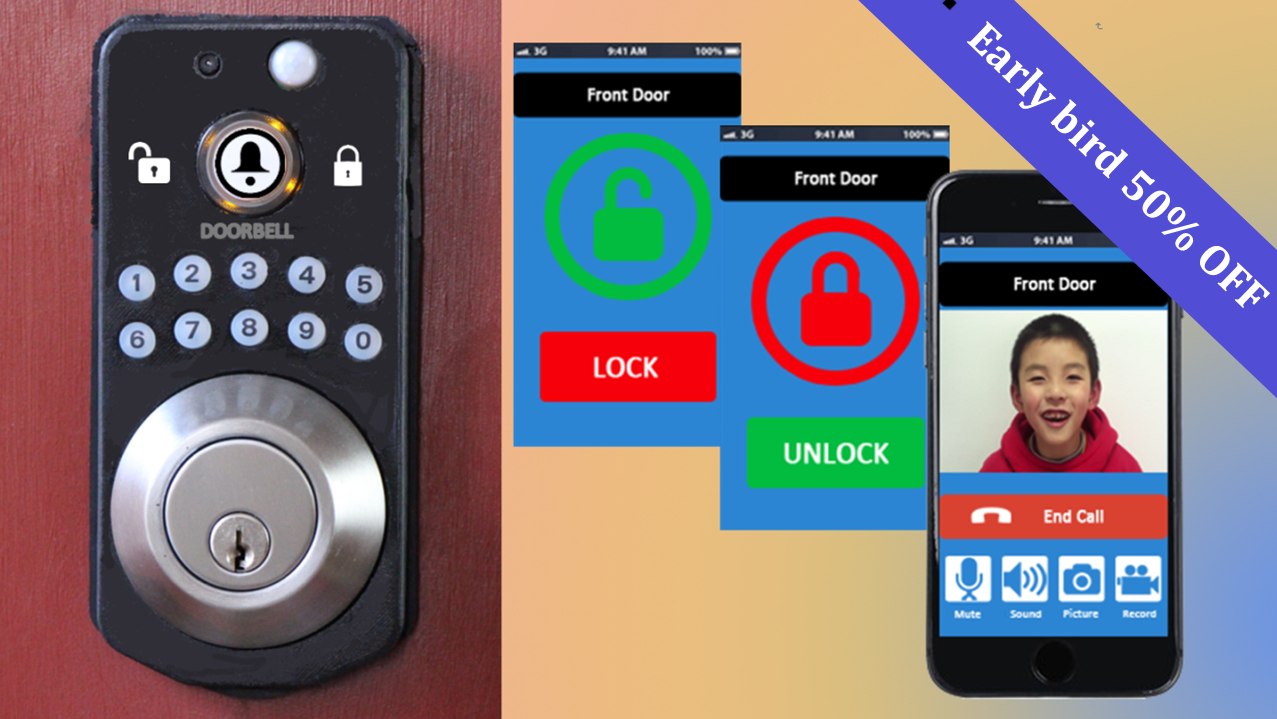 Worlds First Smart Lock And Wi Fi Video Doorbell Indiegogo