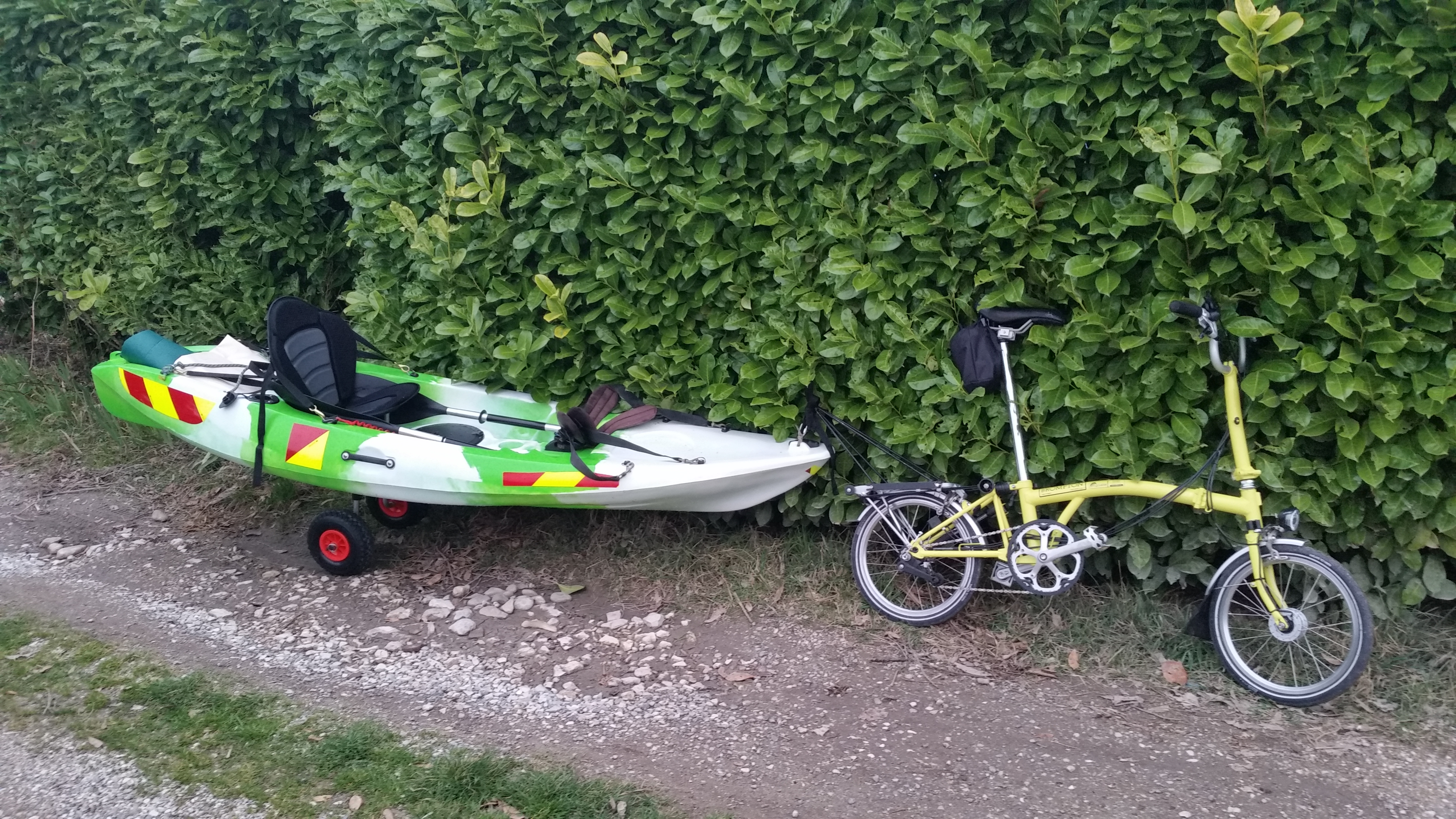 Going To Work By Kayak And Brompton Folding Bike Indiegogo