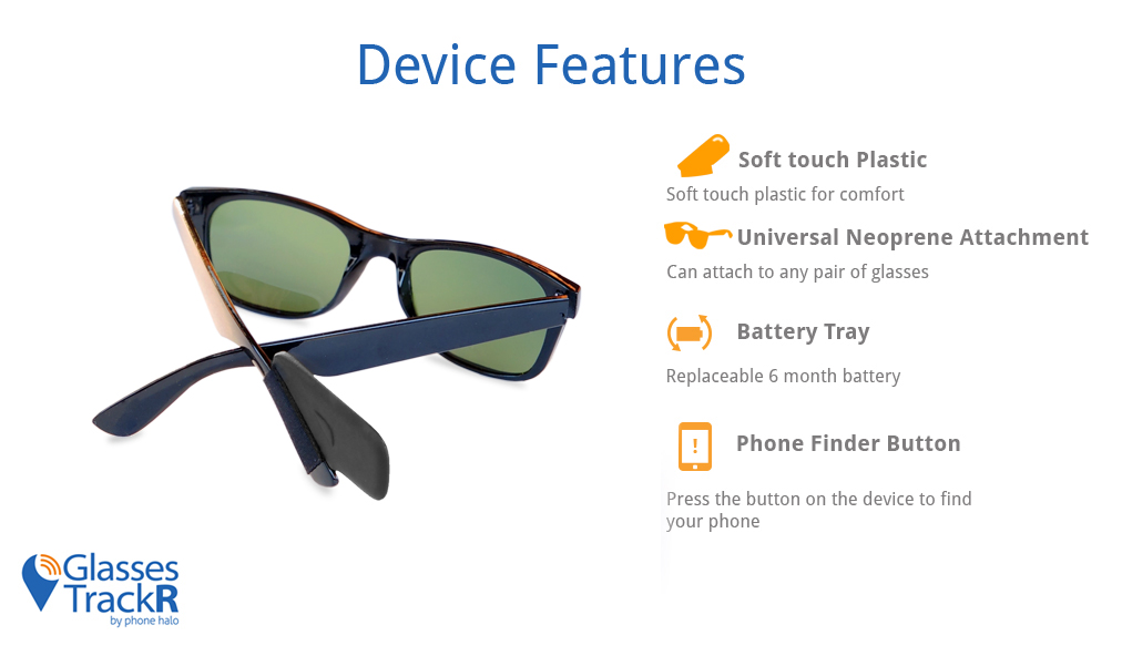 Glasses Trackr Locate Sunglasses And Eyeglasses Using
