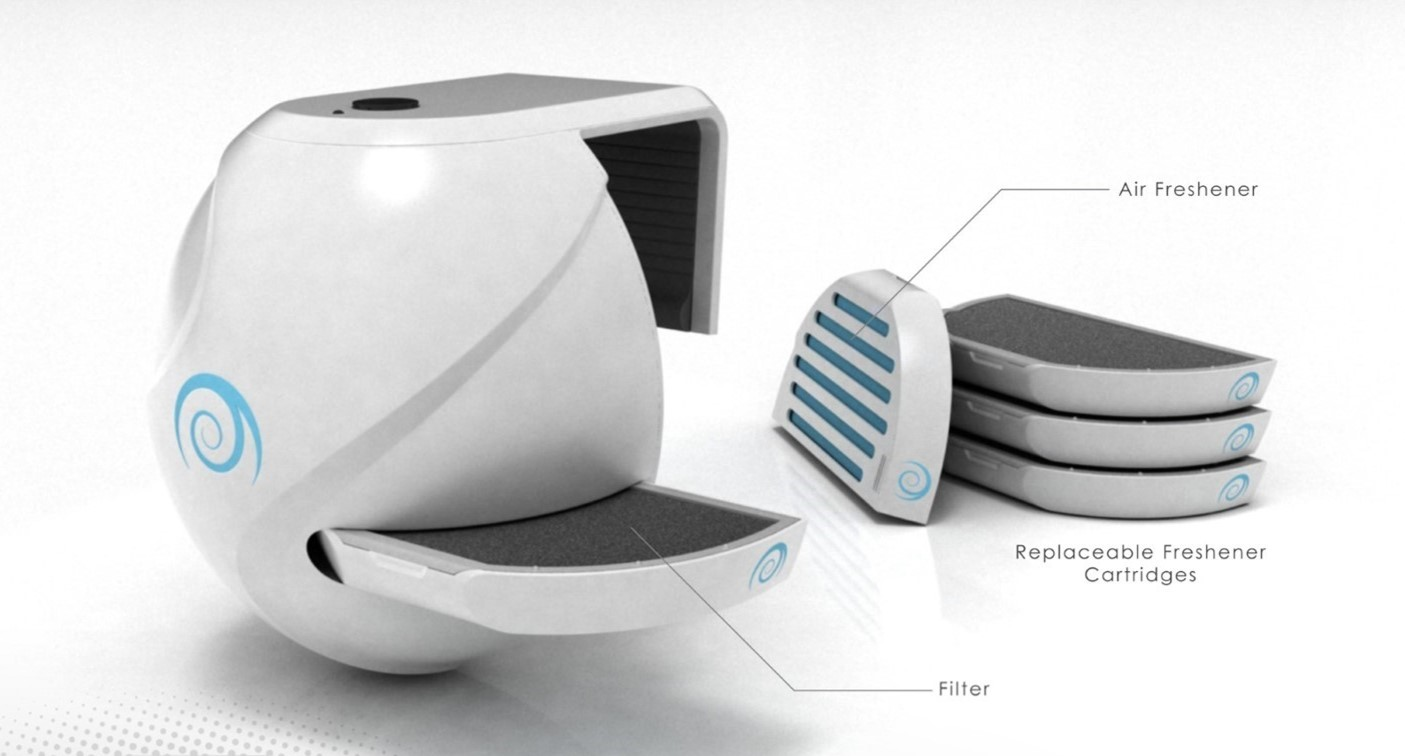 COGSWELL AIR PURIFIER Indiegogo - Bathroom air purifier