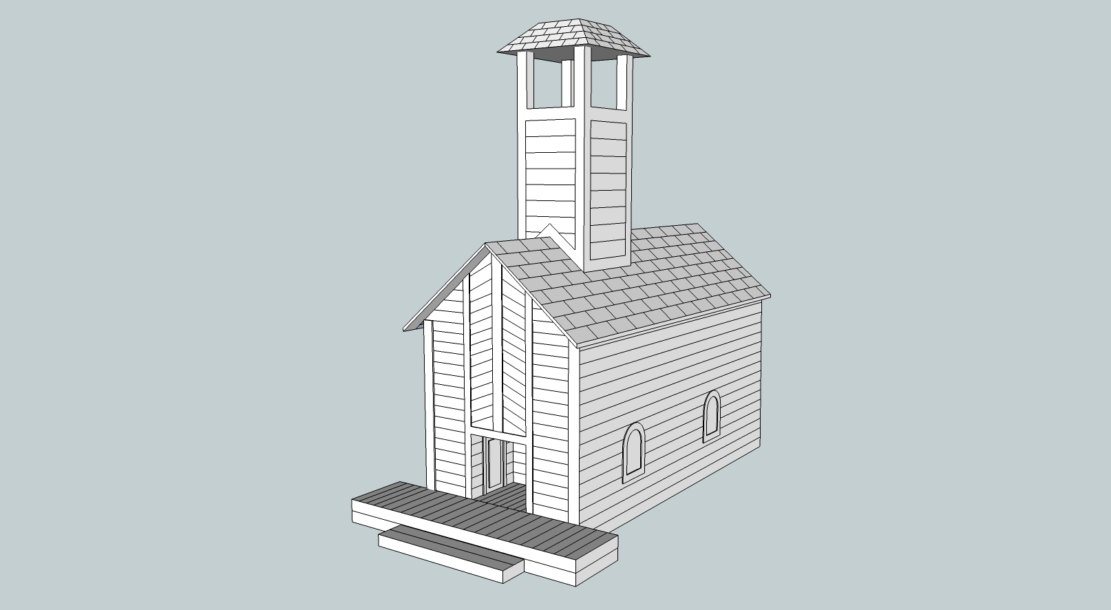 church 9 50 per 1 no charge for pitched roof