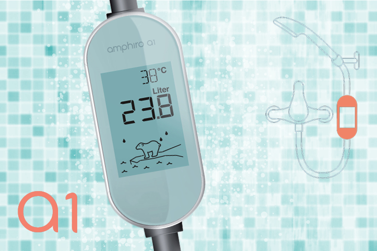 amphiro a1 the self powered smart water meter for the shower indiegogo. Black Bedroom Furniture Sets. Home Design Ideas