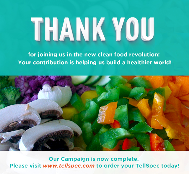 Tellspec Whats In Your Food Indiegogo