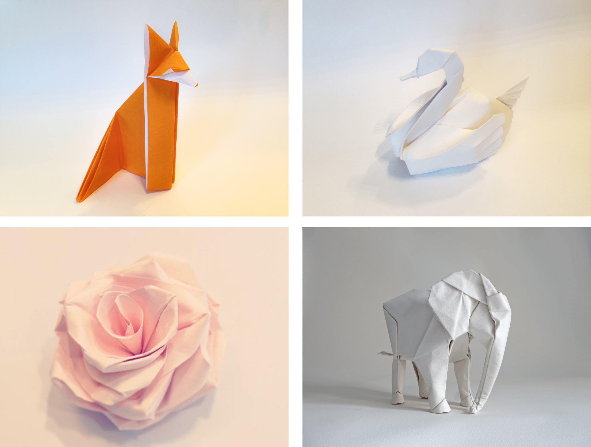 White Elephant Indiegogo Rose Flower Diagram Origami What You Get