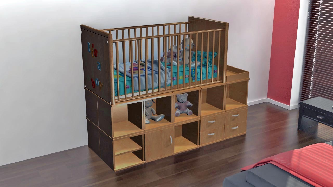 ModRoomz modular furniture allows you to build anything from a bed, to a crib to desk and then rearrange the ModCubes to create something entirely new when you need to