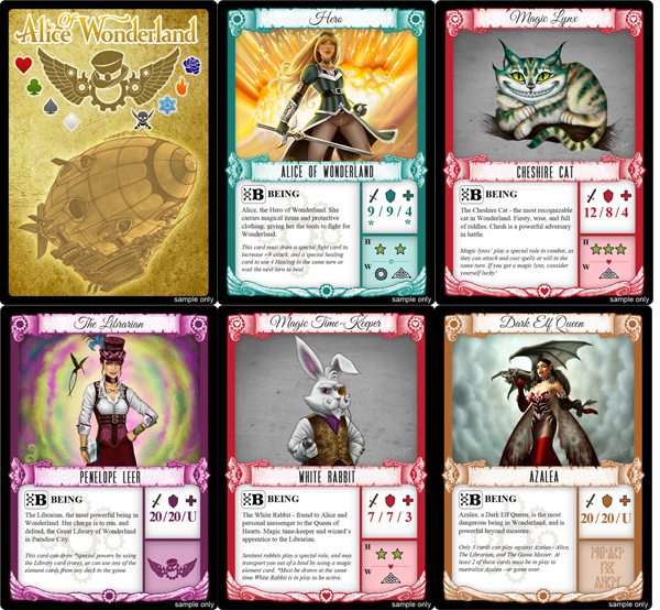Alice Of Wonderland Trading Card Game  Part   Indiegogo