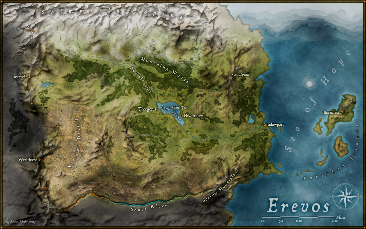 EREVOS World Map By Anne Mohr (Schattenherz)