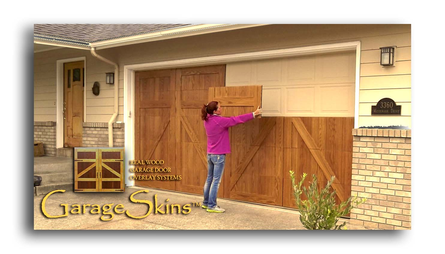 what are garageskins real wood garage door overlays