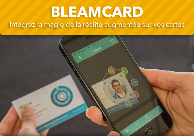 La BleamCard Transforme Carte De Visite Traditionnelle En Vritable Support Communication Interactif Cette Unique Au Monde Vous Apporte