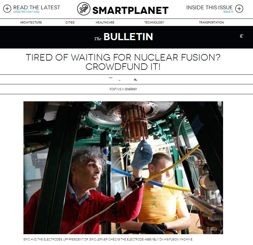 From SmartPlanet: Tired of Waiting for Nuclear Fusion? Crowdfund It!