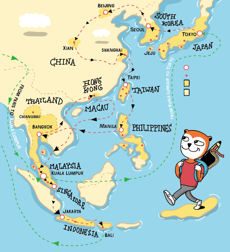 Images of nasa japan philippines map spacehero nasa japan philippines map photo 43 pablo bear goes to asia a comic book indiegogo gumiabroncs Image collections