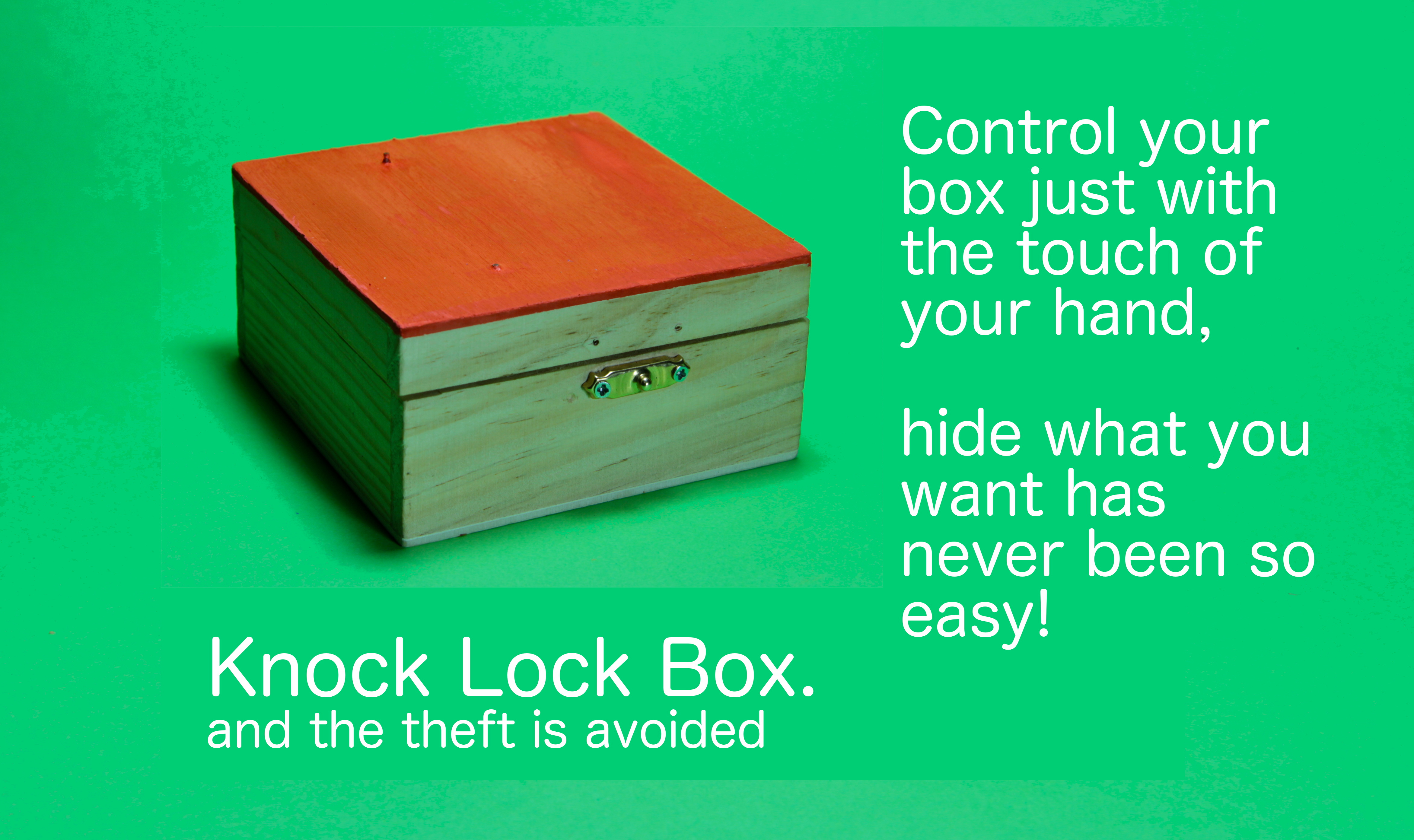 Knock Lock Box  and the theft is avoided | Indiegogo