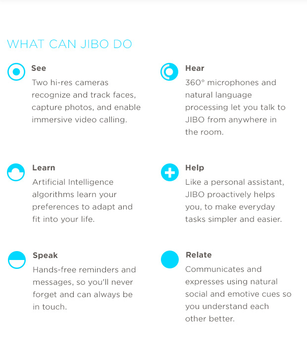 JIBO The World s First Family Robot Indiegogo