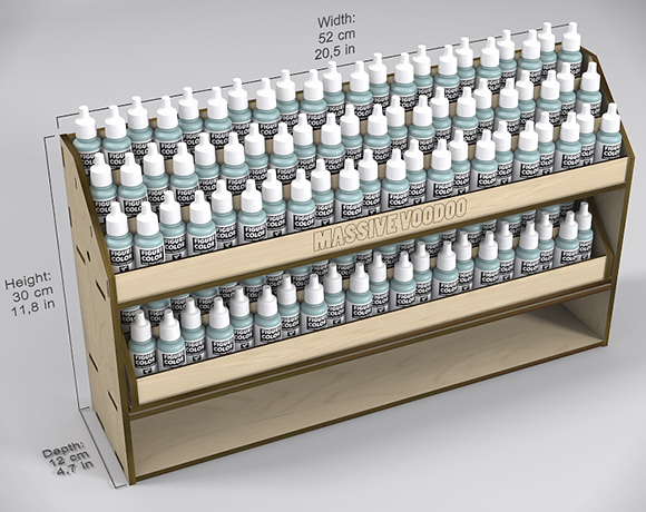 Spray Paint Display Rack