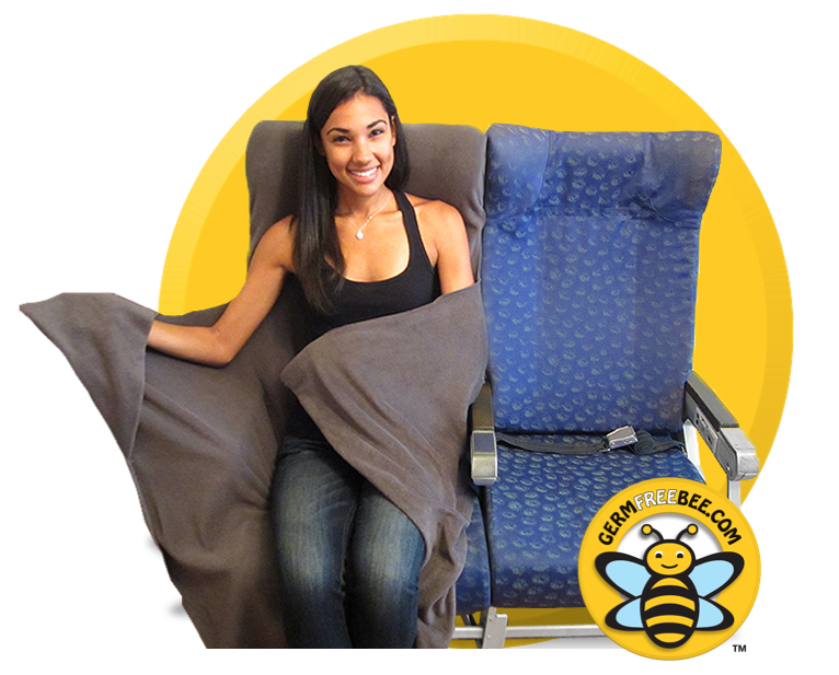 The Germ Free Bee Airplane Seat Cover Blanket