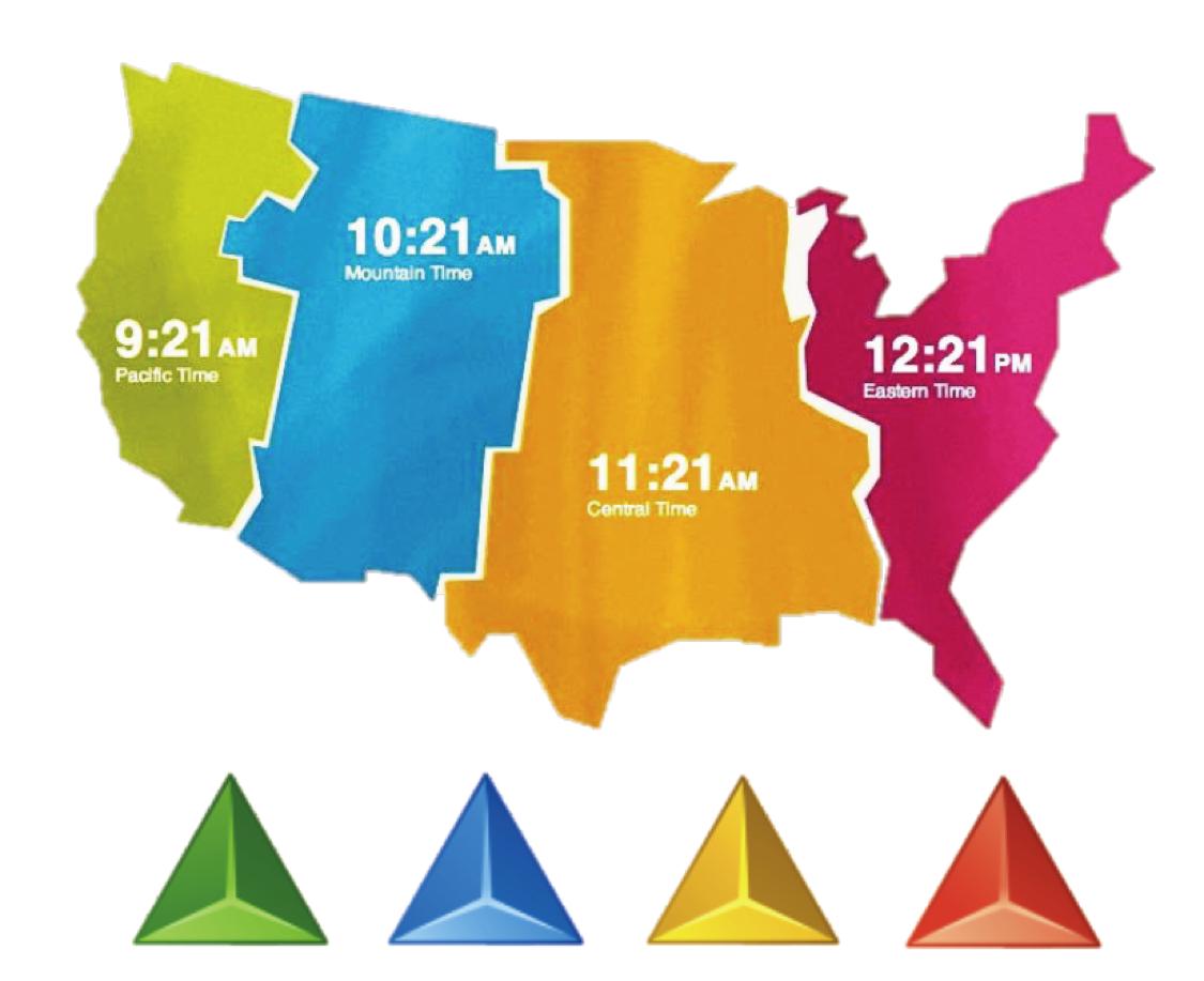 USA Area Code And Time Zone Wall Map Mapscom OnTimeZonecom Time