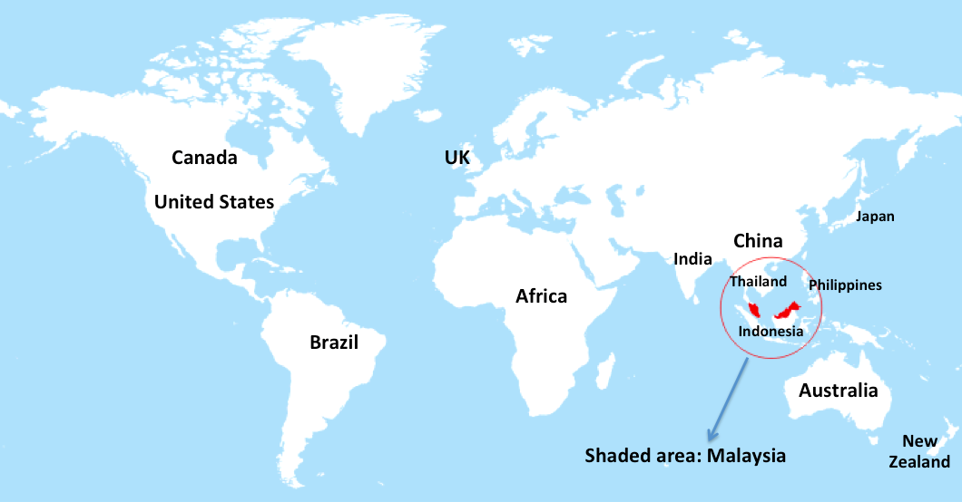 Where is malaysia on a world map 28 images malaysia location map where gumiabroncs Choice Image