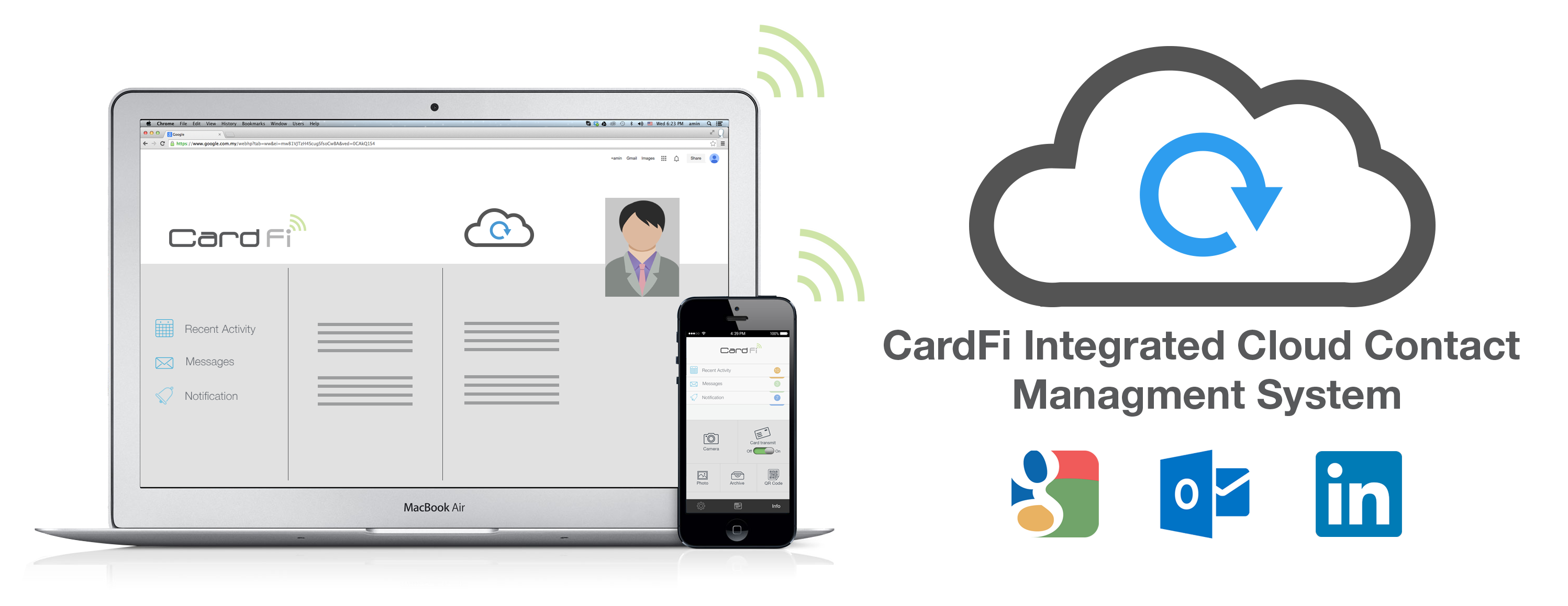 cardfi world s first ibeacon business card