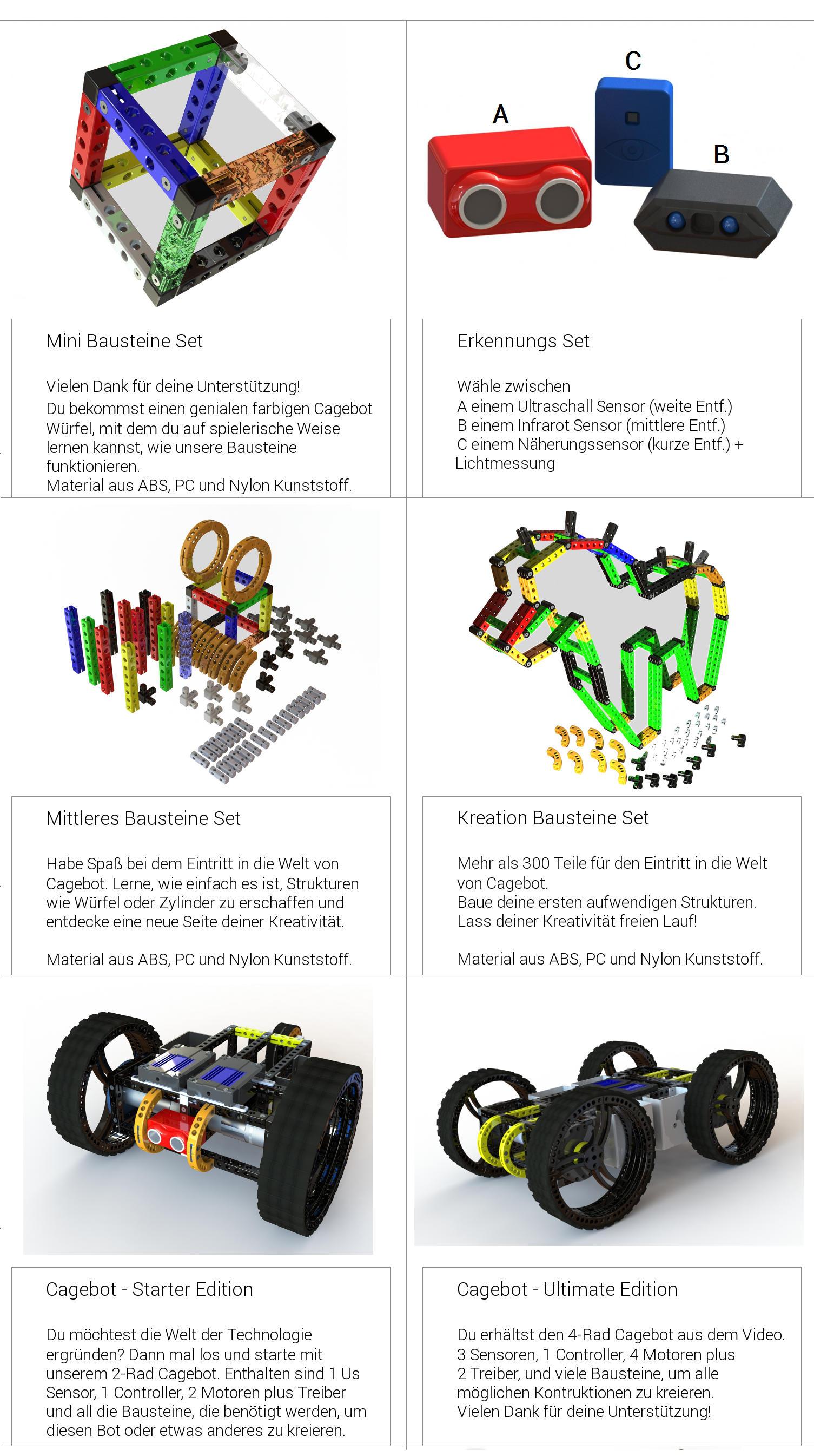 CAGEBOT the ultimate robot kit | Indiegogo