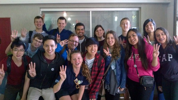 U of Alberta (CAN) Students send their #CheerForPeace