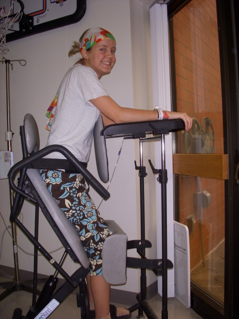 This is a picture of me just days after my paralysis and I am standing in a standing frame for the first time.