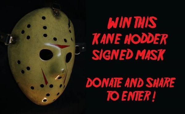 Kane Hodder signed Hockey Mask Contest