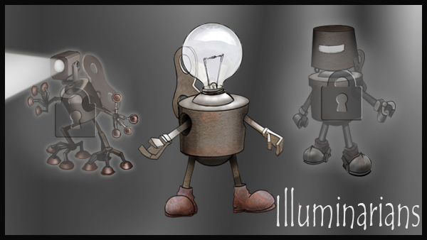Three models of bulb-class illuminarians.